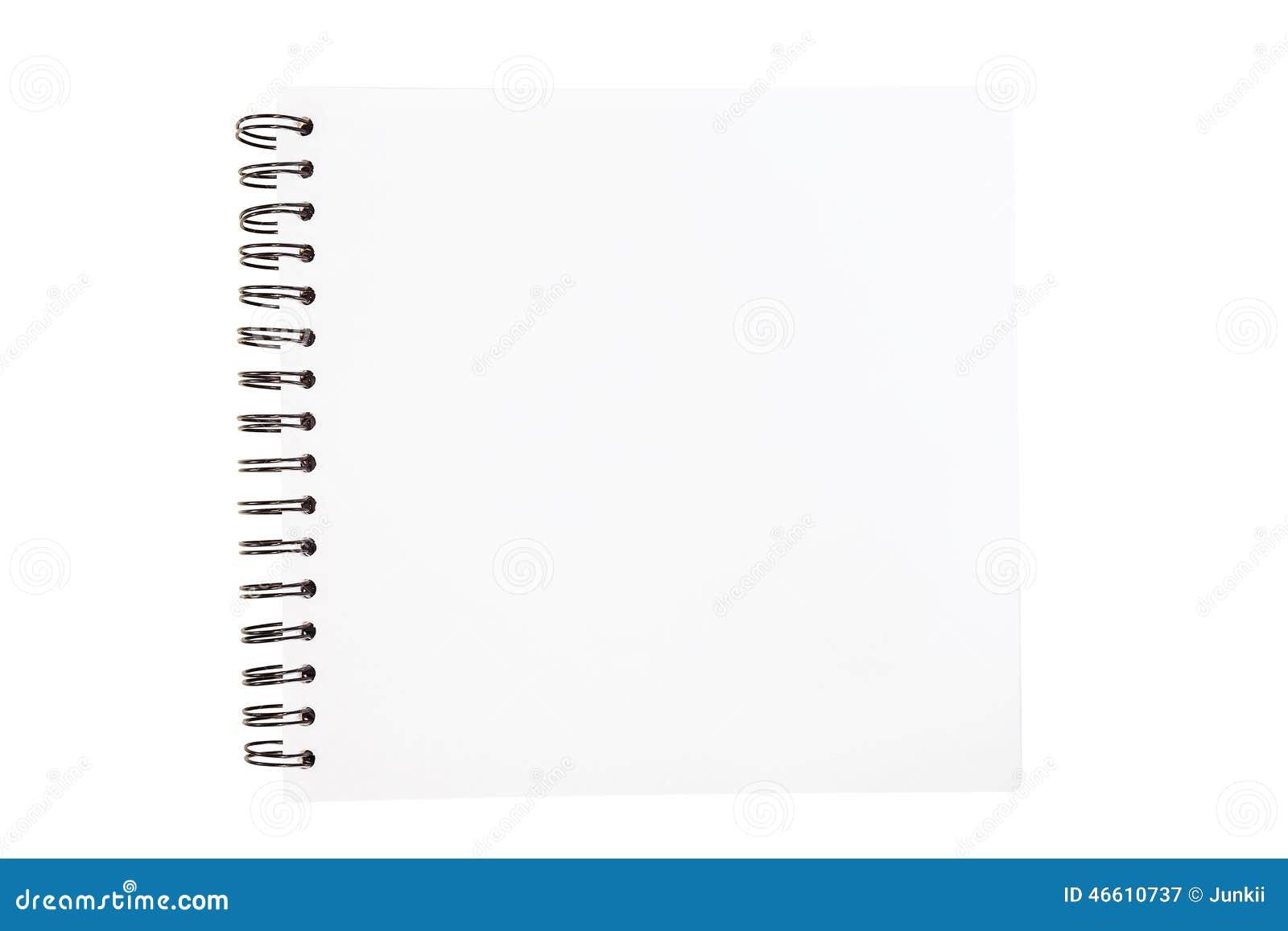 le livre en spirale de croquis s 39 est ouvert d 39 isolement sur le fond blanc image stock image du. Black Bedroom Furniture Sets. Home Design Ideas
