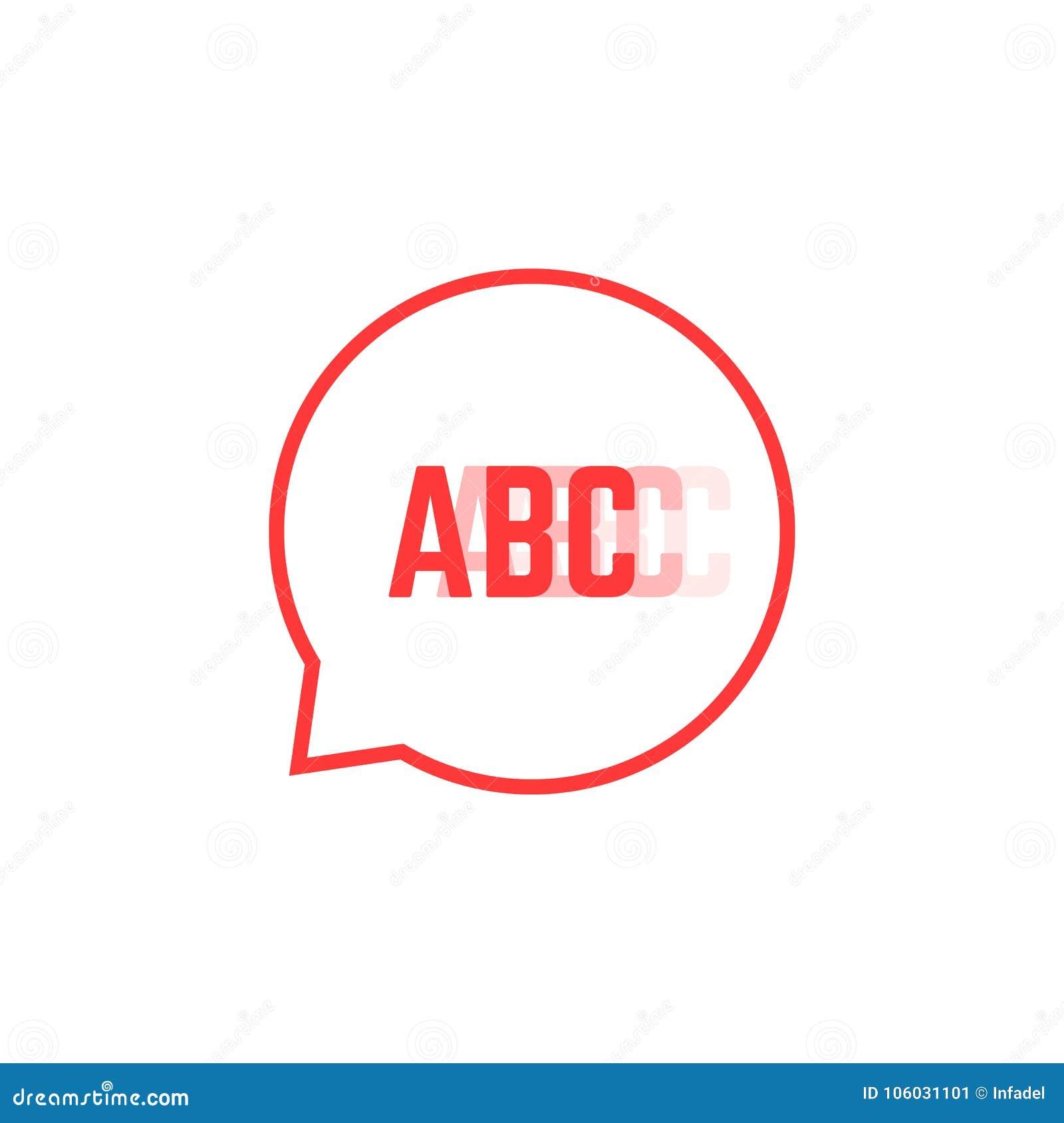 Le logo de bégaiement rouge aiment la bulle de la parole