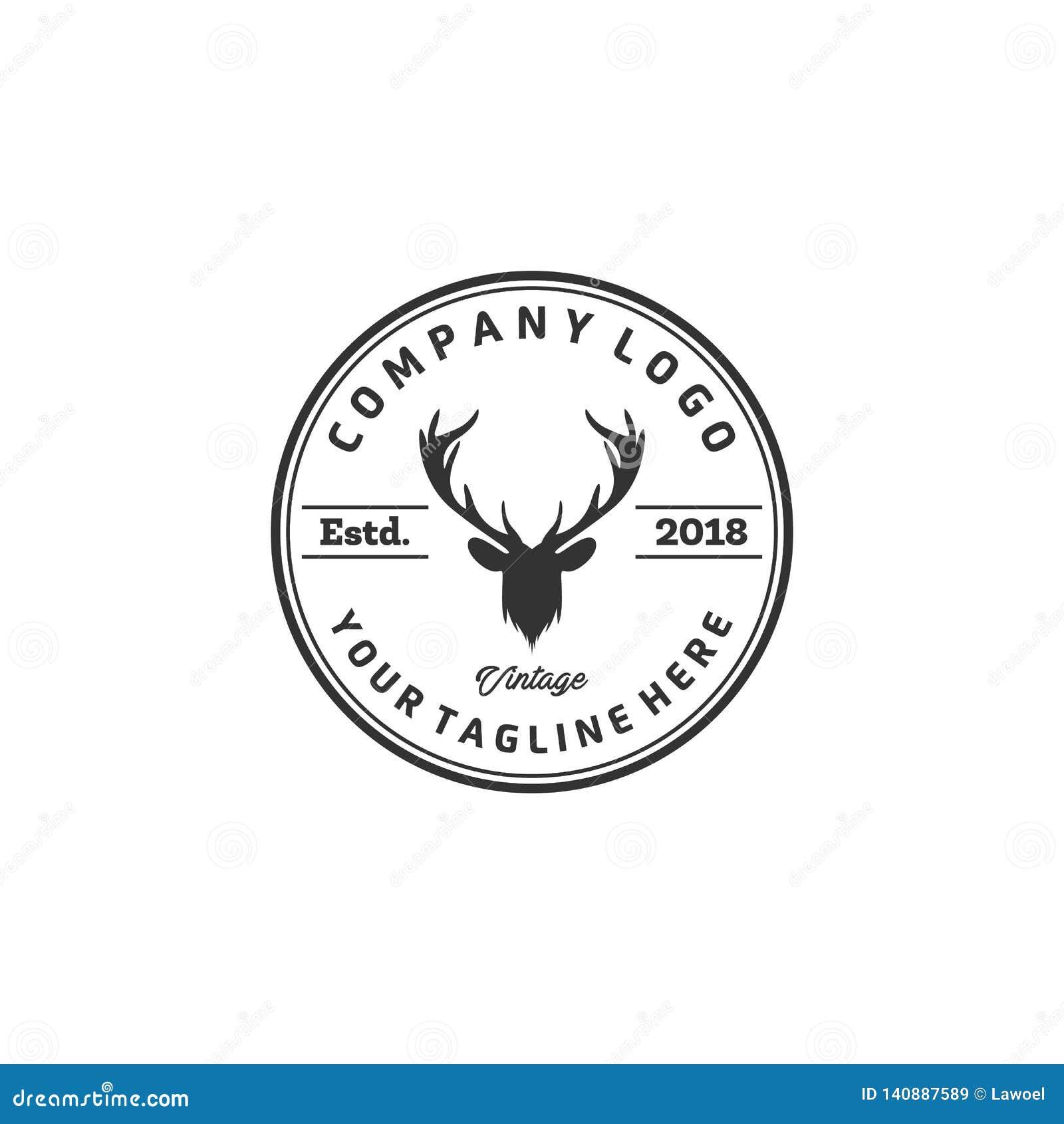 Le logo de cerfs communs conçoit des inspirations, logo de club de chasse