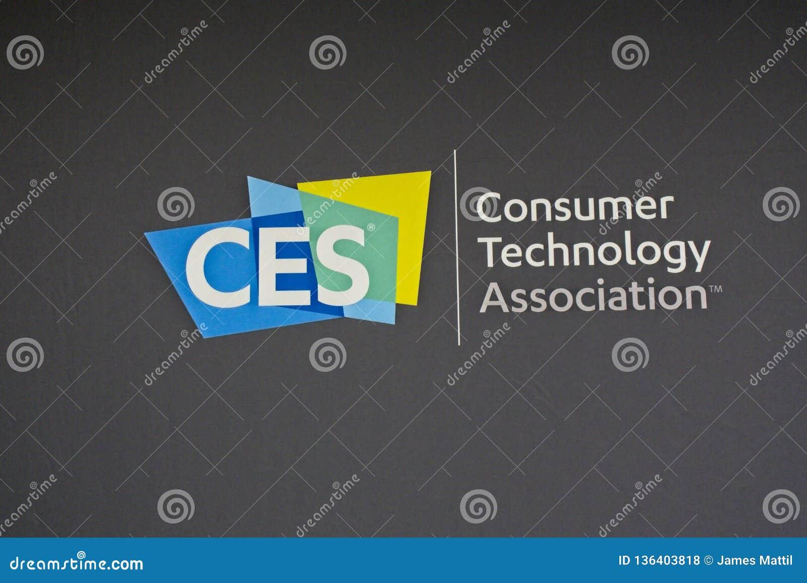 Le logo de 2019 CES identifie le plus grand salon commercial du monde