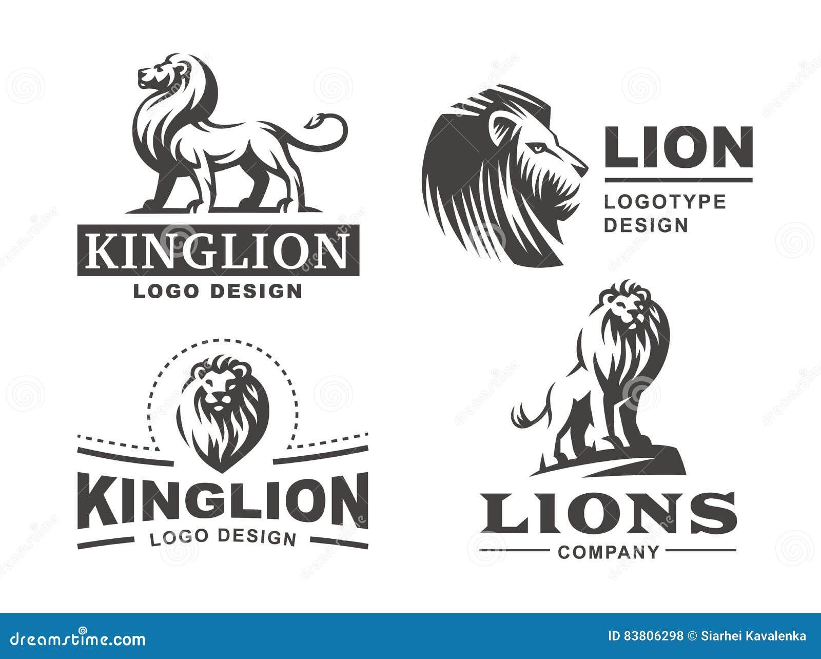 Le logo de lion a placé - dirigez l illustration, conception d emblème