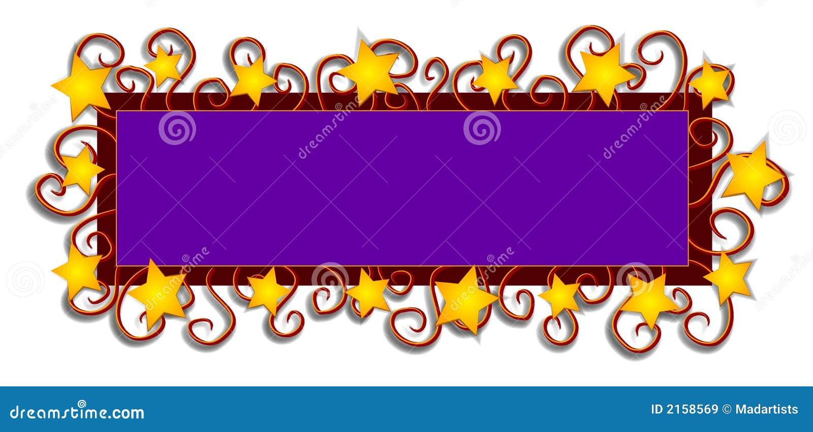 Le logo de page Web Stars des remous
