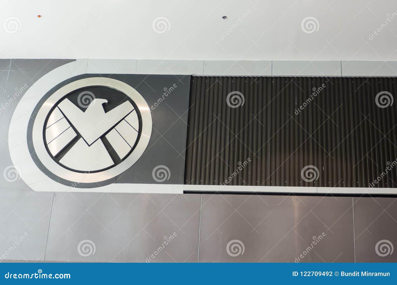 Le logo de S H I E L d est un espionnage fictif, chargé de faire respecter la loi spécial, apparaissant en bandes dessinées améri
