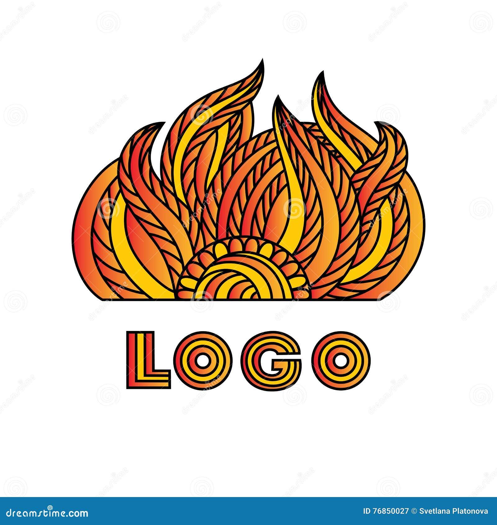 Le logo du soleil dessin au trait griffonnage zentangle - Dessin du soleil ...