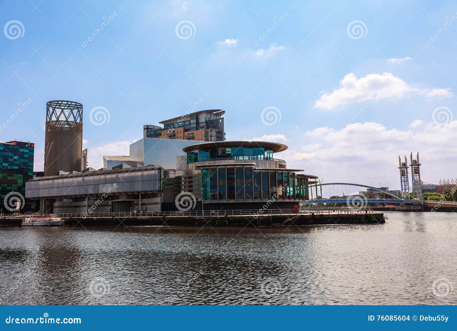 Le Lowry aux quais de Salford, Manchester R-U