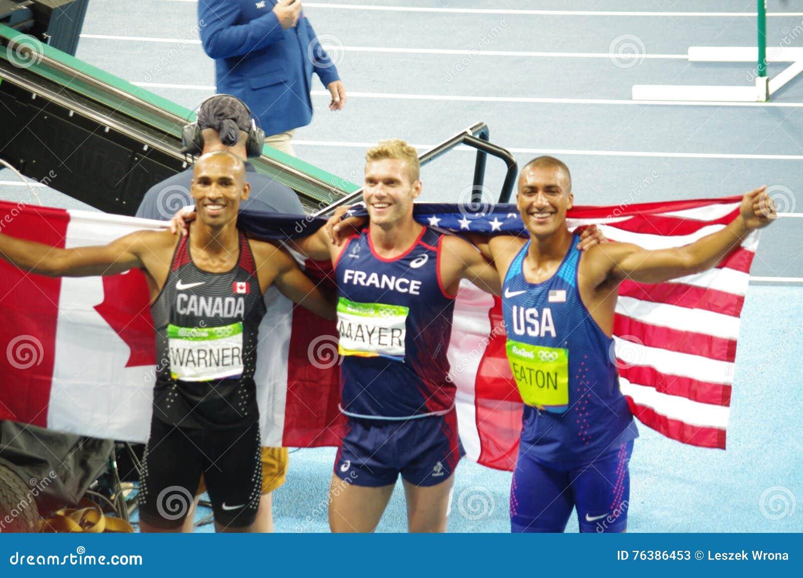 Le médaillé de décathlon à Rio2016