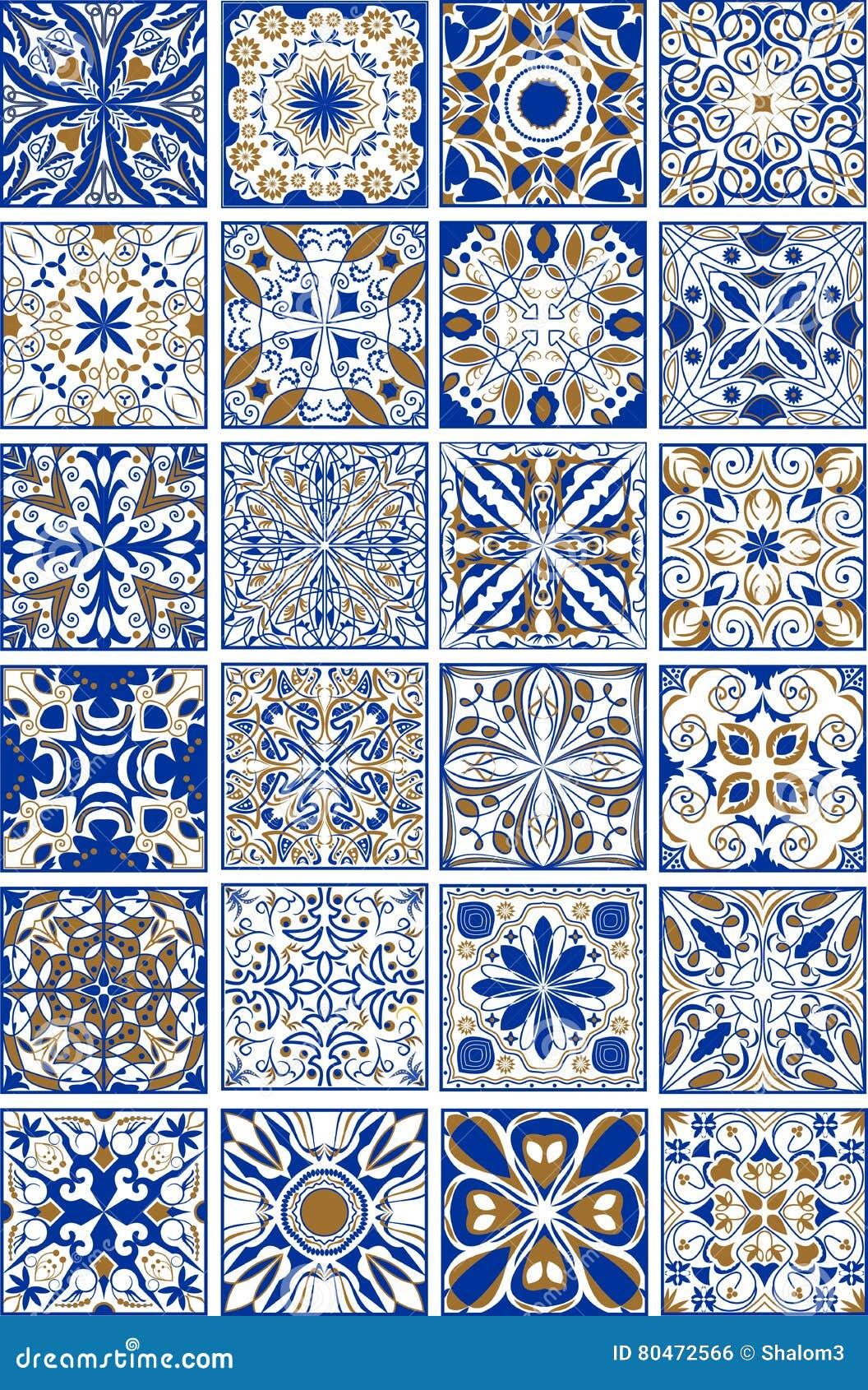 Le méga a placé des tuiles espagnoles ou portugaises traditionnelles en céramique et de poterie d ornamental