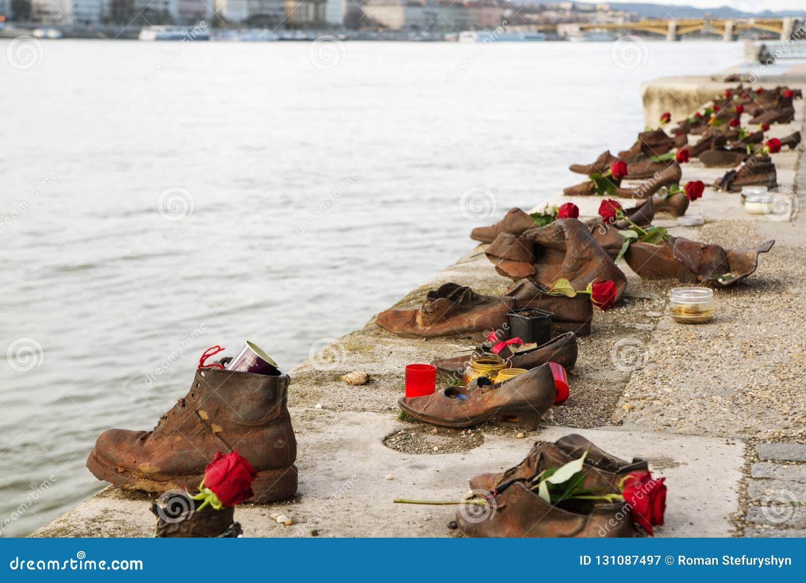 Le mémorial de l holocauste au bord du Danube, chaussures sur le Danube Budapest, Hongrie