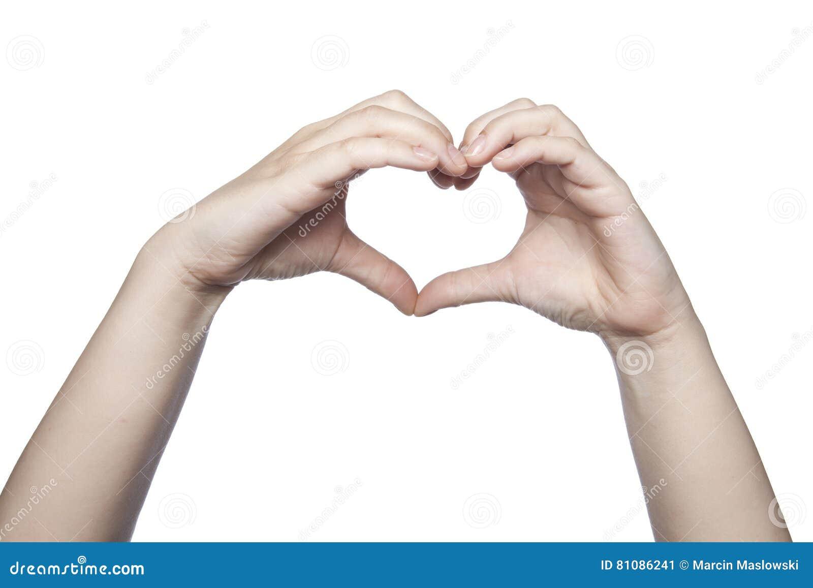 Le mani piegate sotto forma di un cuore indicano l amore, copiano la stazione termale