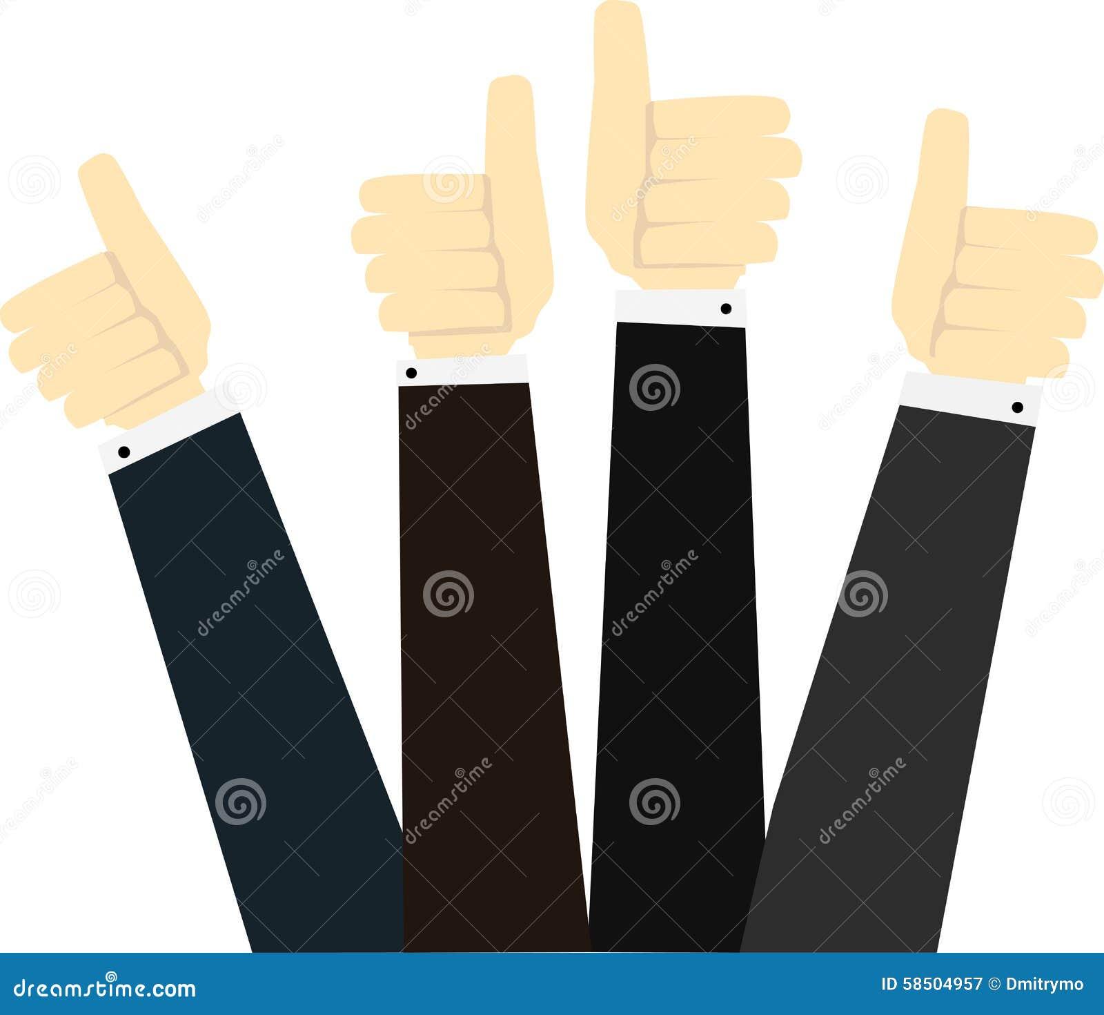 Le mani in pollici aumentano il segno