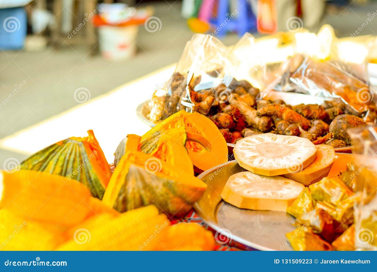Le marché végétal en Thaïlande
