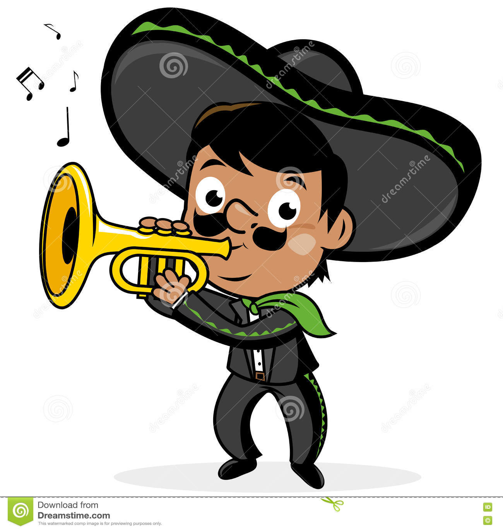 Le mariachi mexicain équipent jouer la trompette