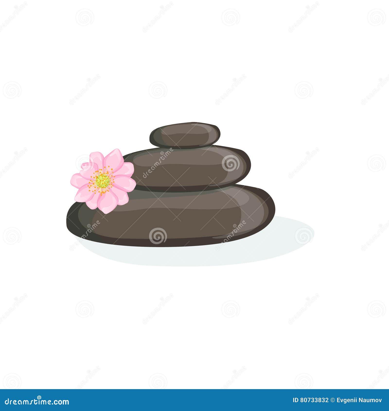 Le massage de Zen Pyramid With Black Warm lapide l élément de la santé de centre de station thermale et la collection de procédur