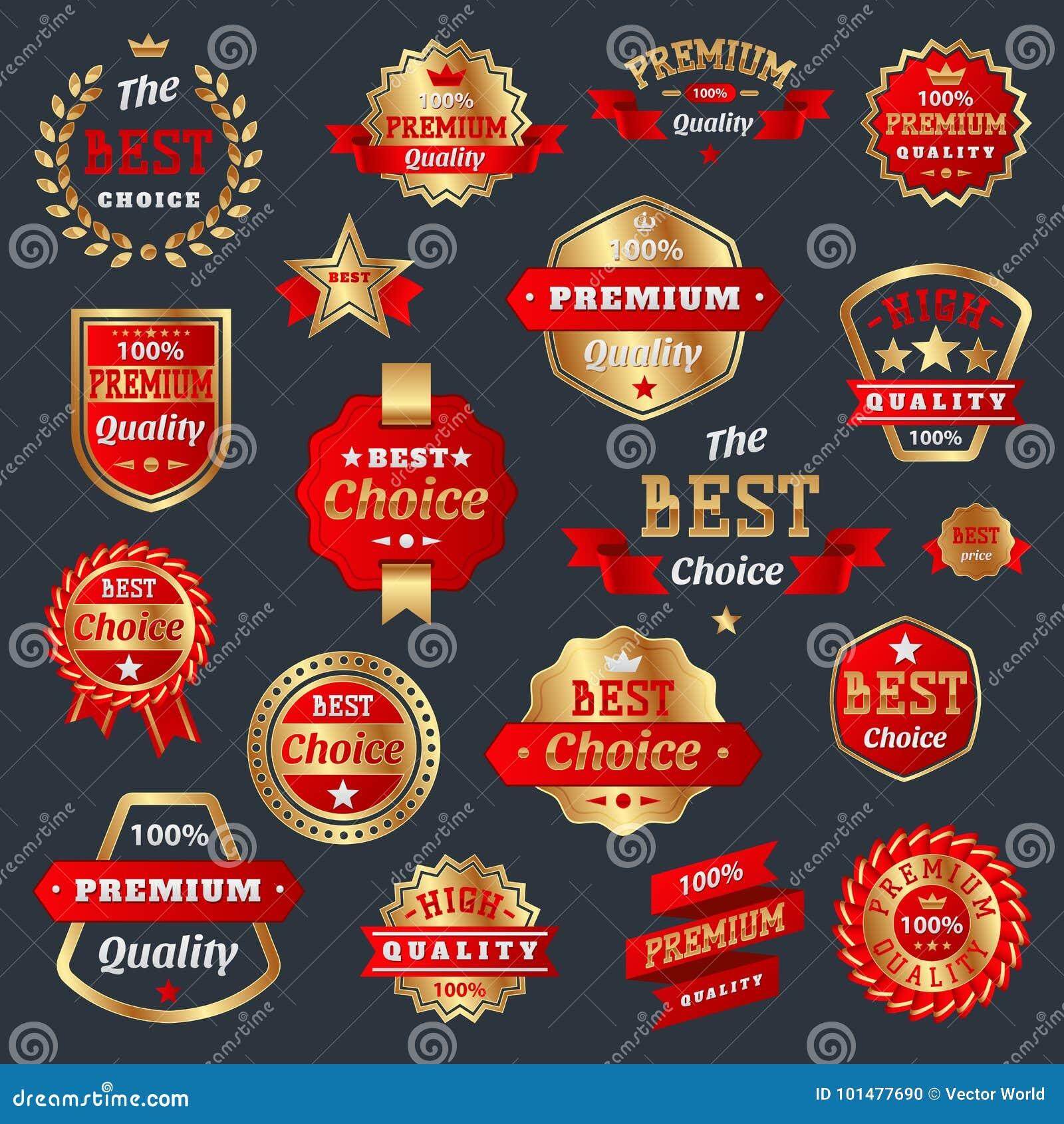 Le meilleur choix et le signe de la meilleure qualité de garantie d insignes de produit de qualité marquent la meilleure garantie