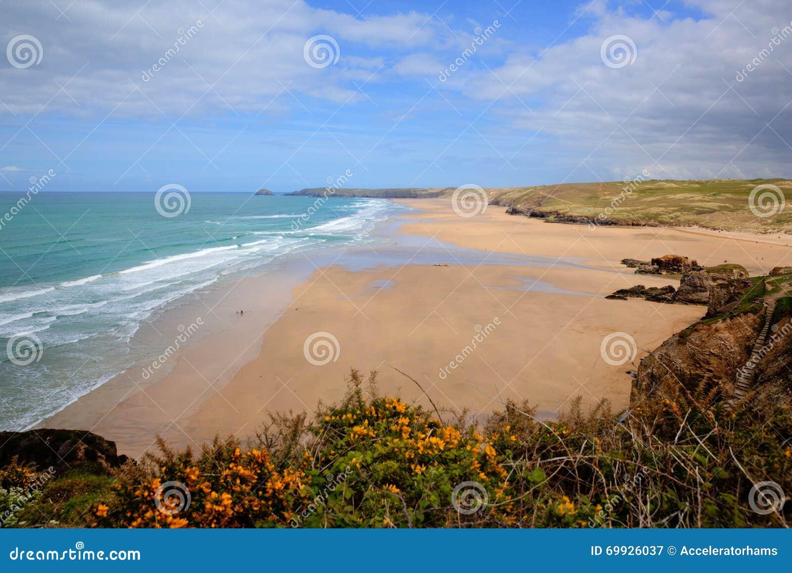 Le meilleur R-U échoue les couleurs riches BRITANNIQUES du nord de Perranporth les Cornouailles Angleterre