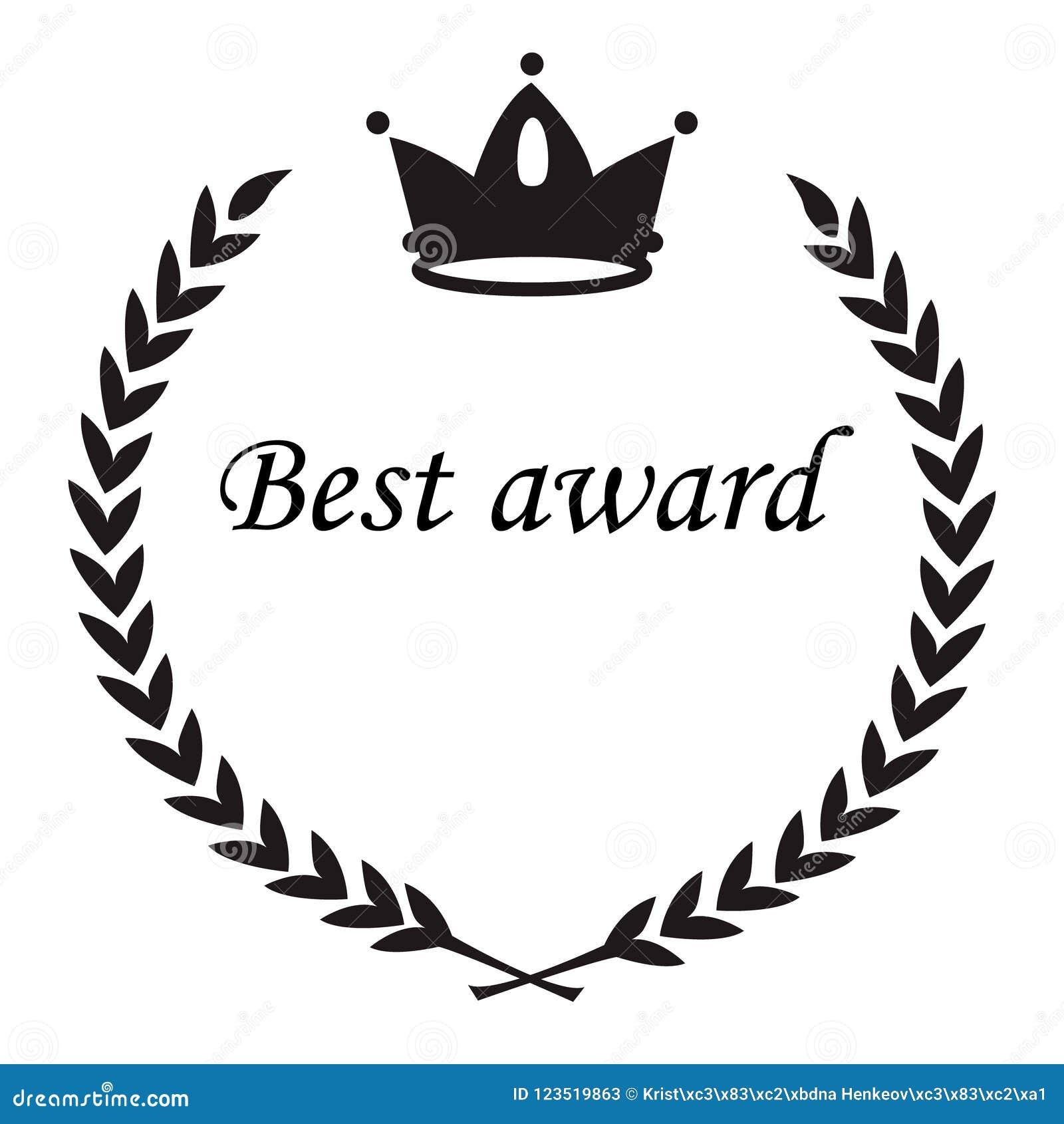 Le meilleur signe de récompense, guirlande de laurier de la couronne NAD part, bla plat de cercle