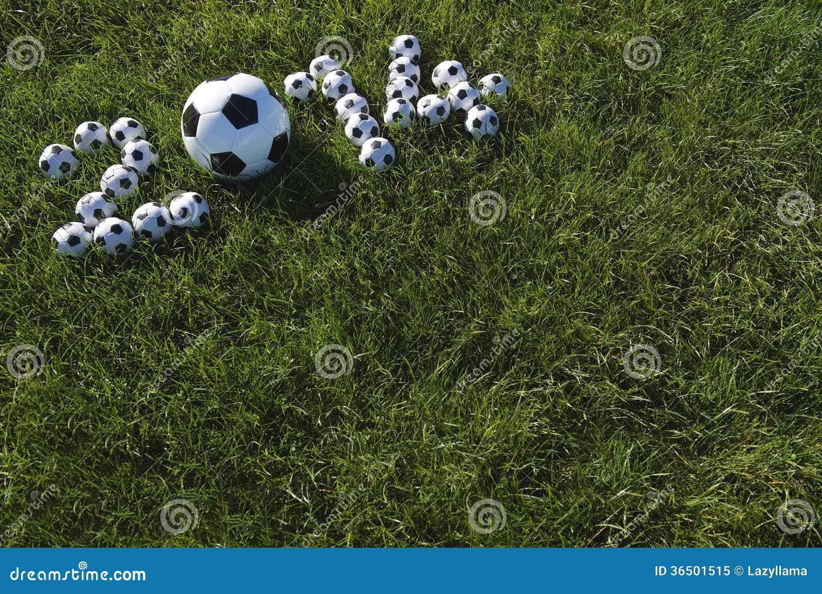 Le message pour 2014 a fait avec des ballons de football du football