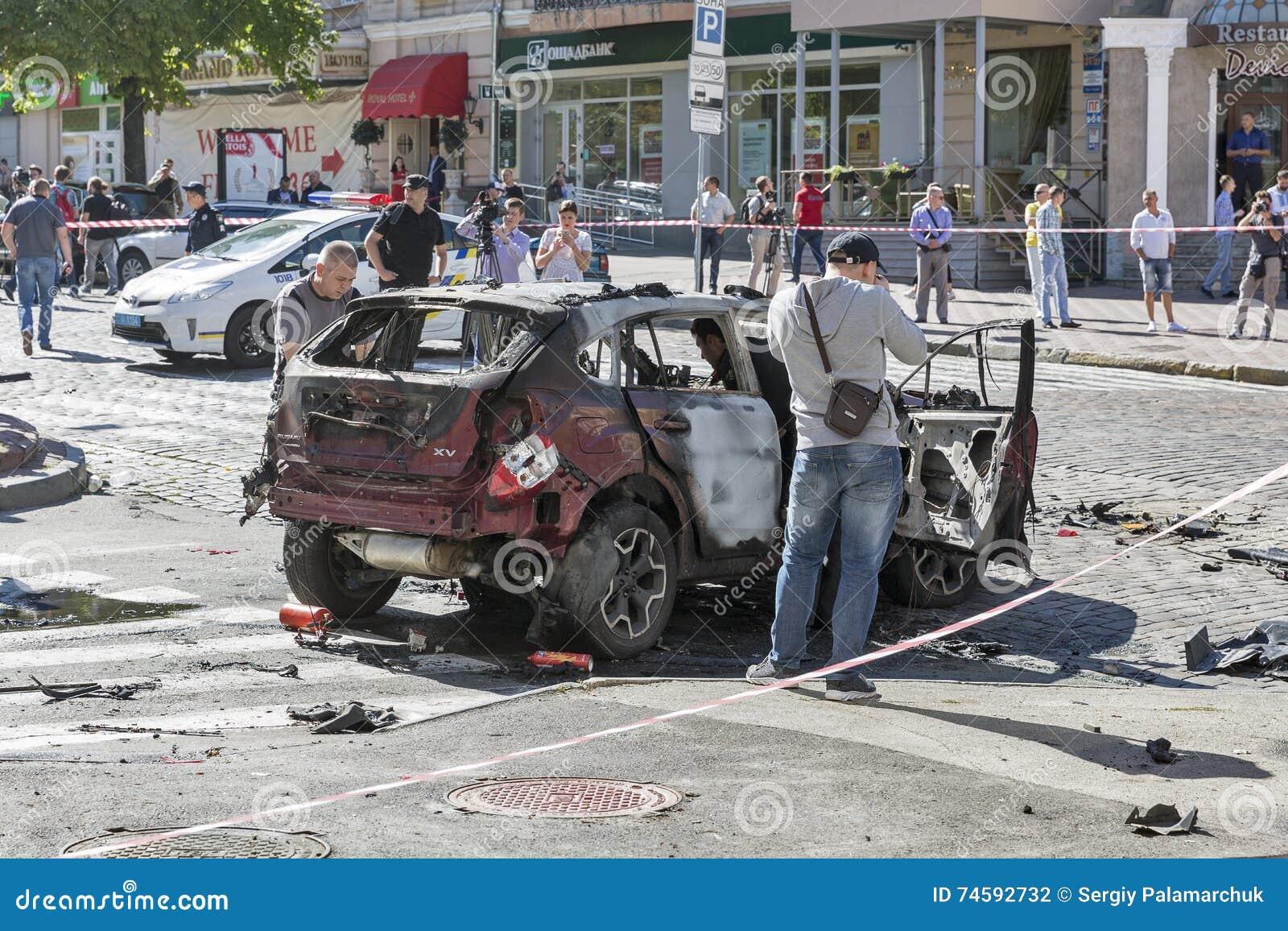 Le meurtre d un journaliste important Pavel Sheremet à Kiev, Ukraine