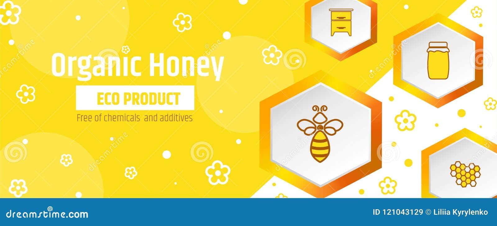 Le miel est un produit écologique organique Bannière ou calibre de design d emballage L apiculture et rucher