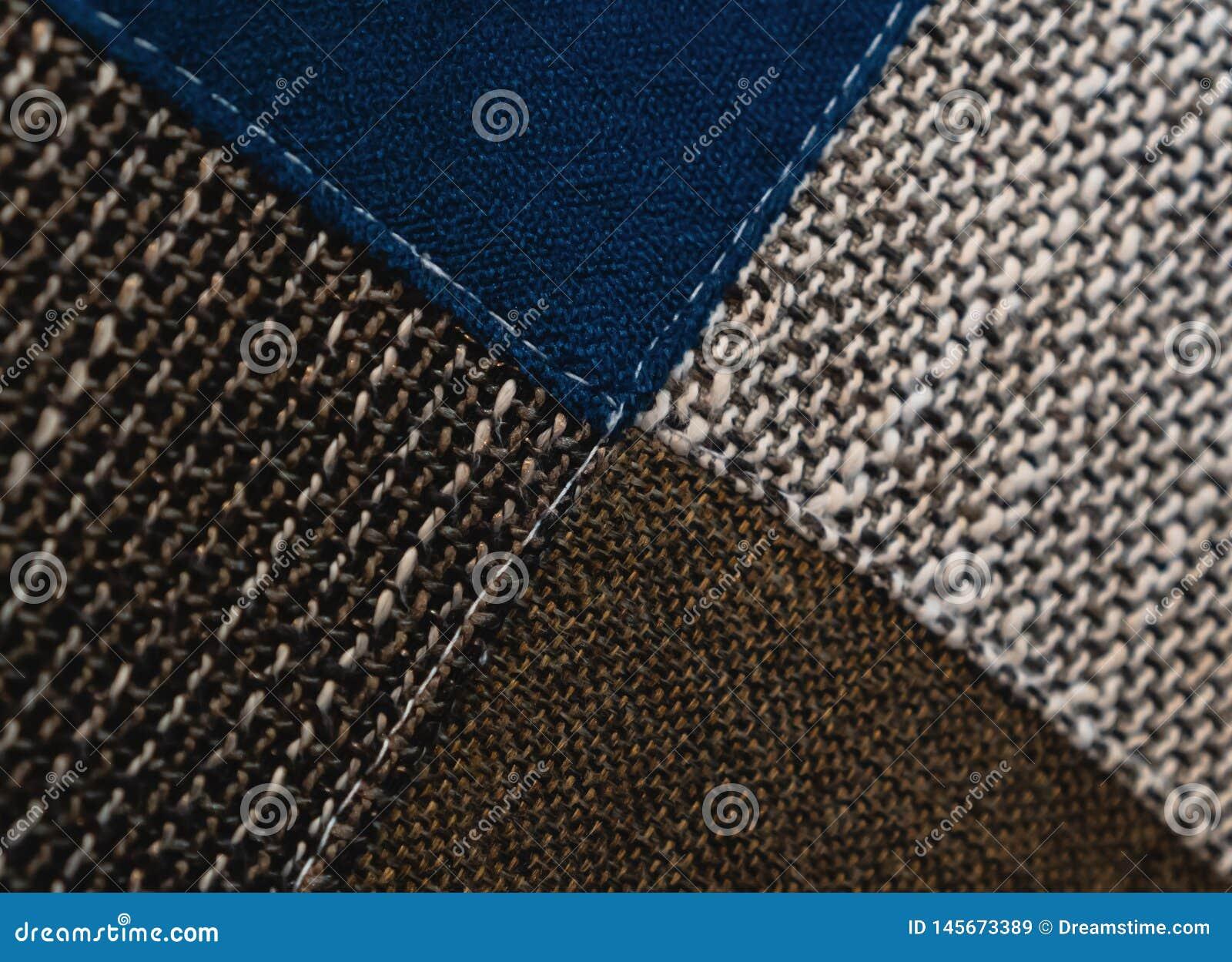 Le modèle coloré de tissu peut être employé pour le fond