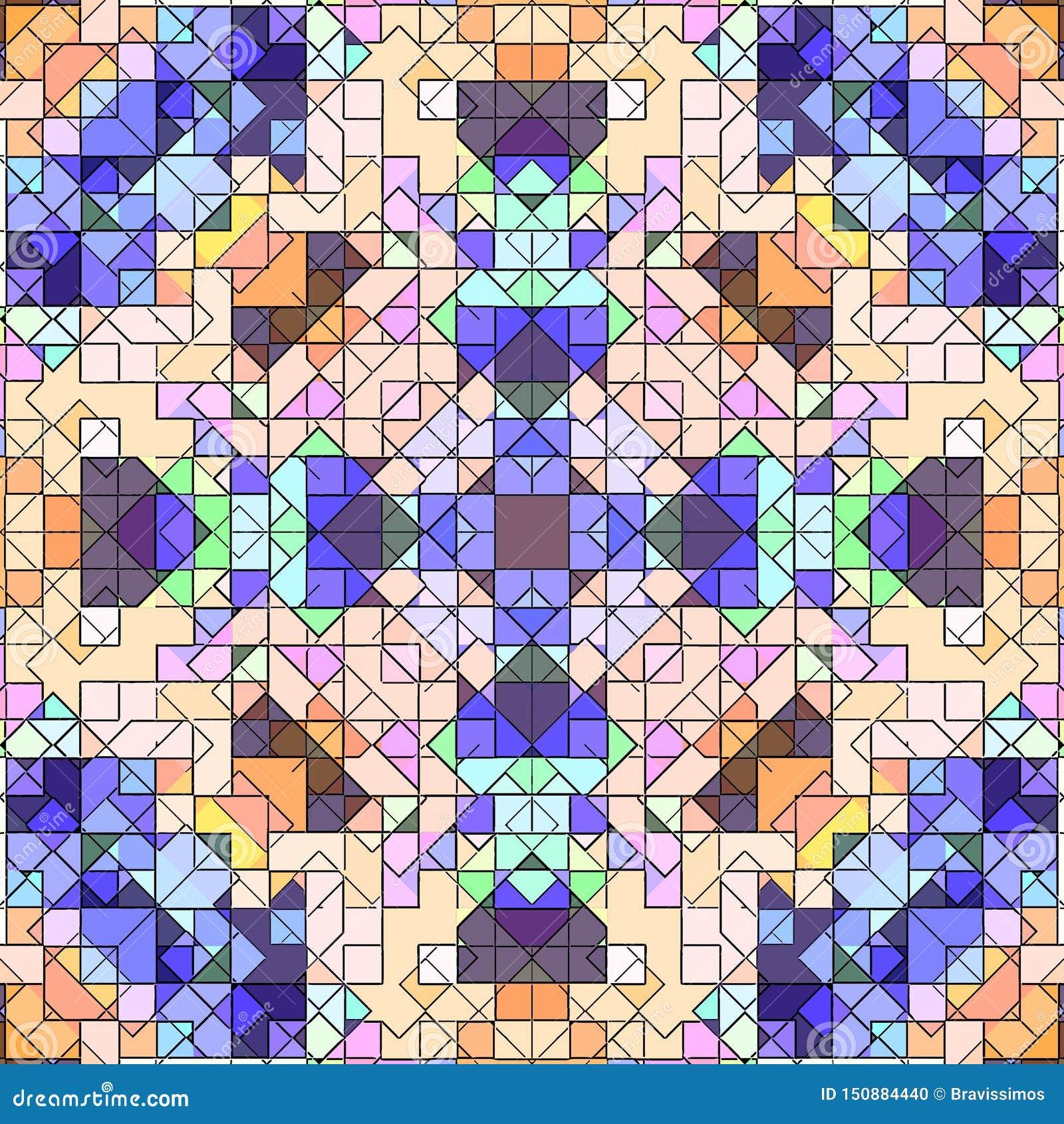 Le modèle de fond d abrégé sur mosaïque a souillé, papier peint coloré