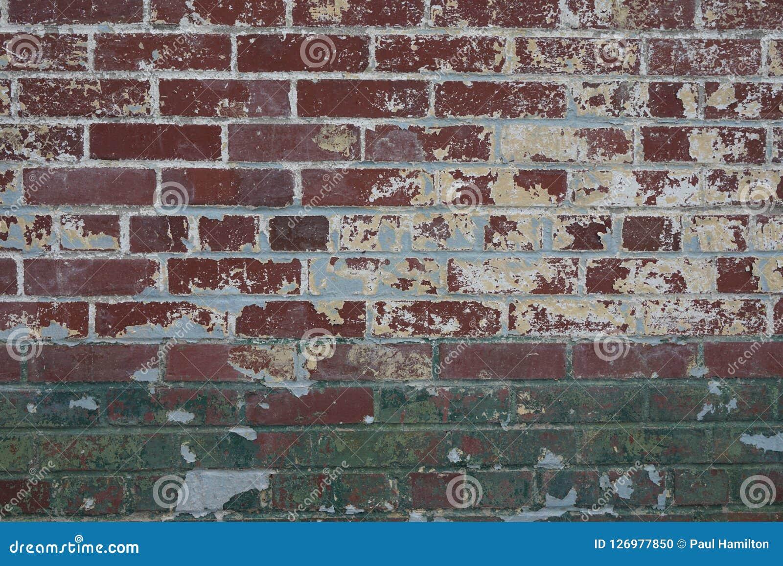 Peindre Un Mur De Brique le modèle extérieur de plan rapproché d'un vieux mur de