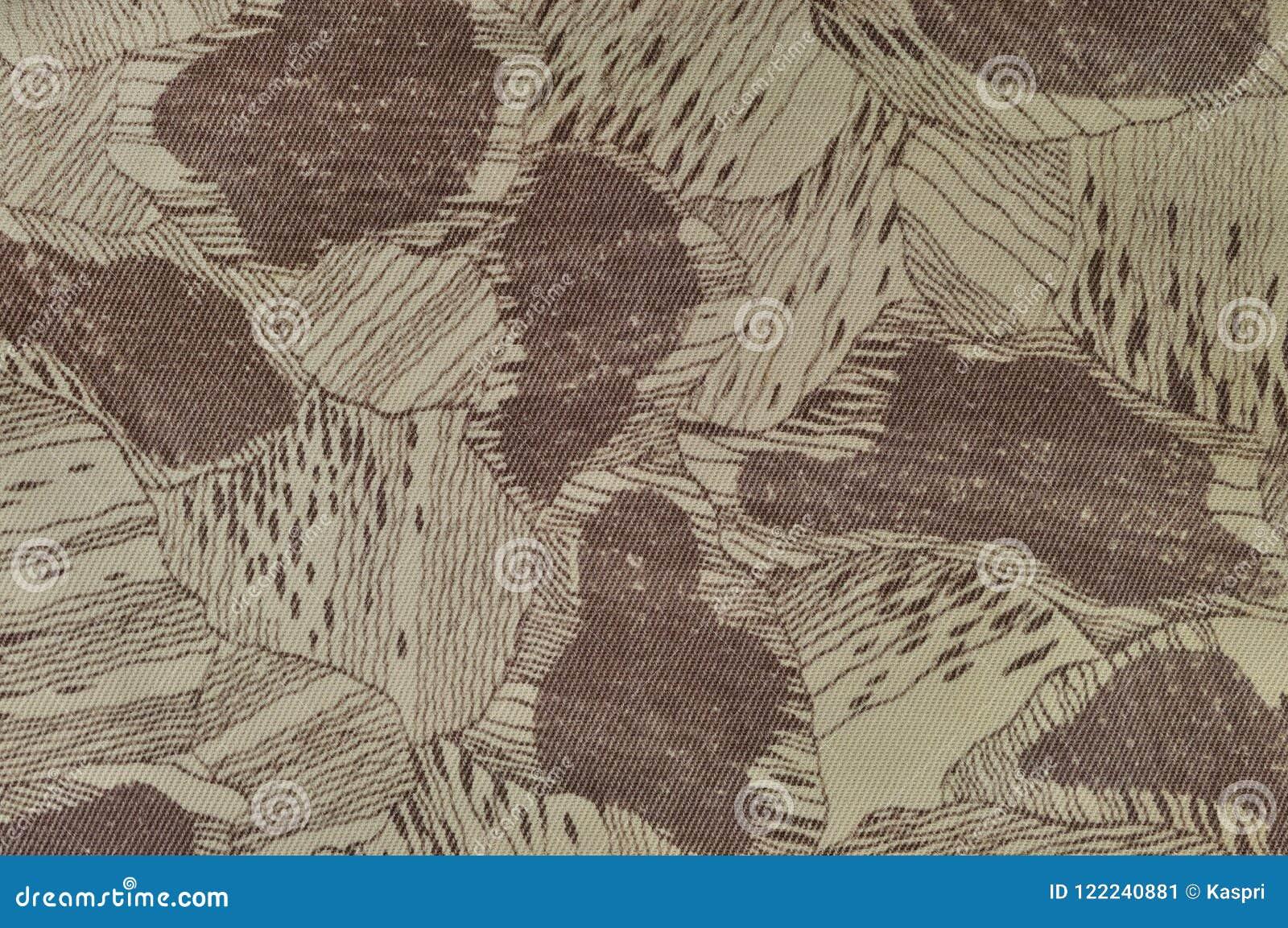 Le modèle fait sur commande de texture de camouflage, brun bronzage vert pâle horizontal de taupe a donné au fond une consistance