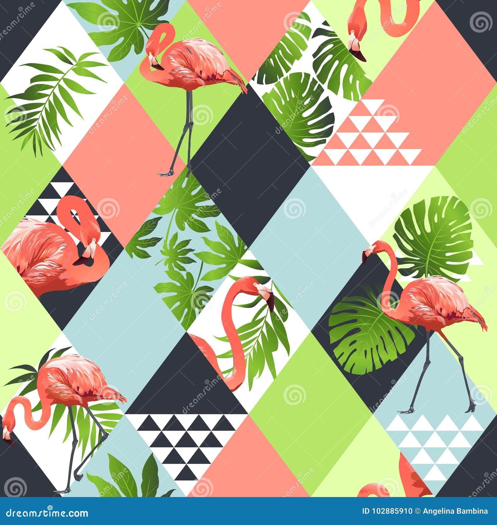 Le modèle sans couture à la mode de plage exotique, patchwork a illustré les feuilles tropicales florales de banane Papier peint