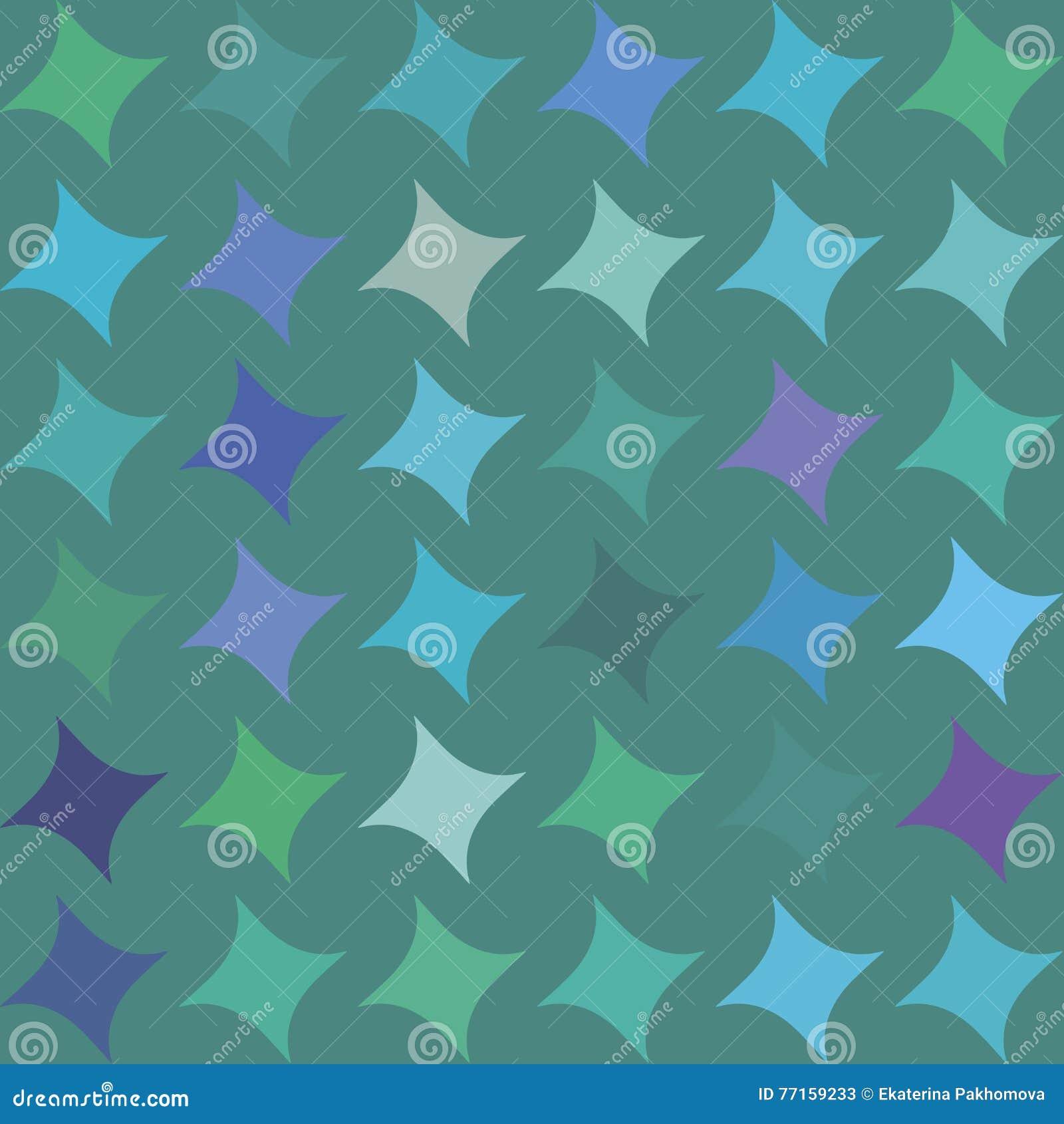 Le modèle sans couture avec les losanges bleus, verts, pourpres, violets, formes géométriques, se tient le premier rôle sur le fo