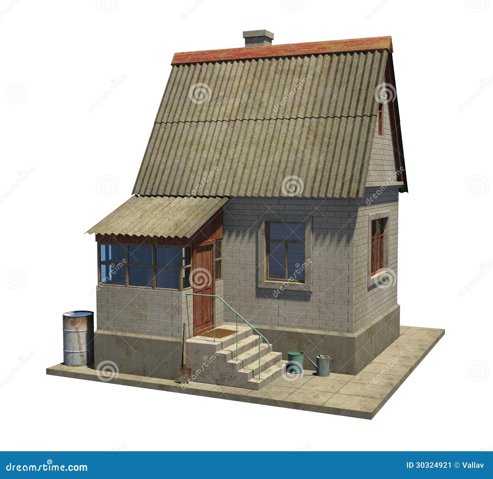 Le mod le d 39 une petite maison de campagne en russie image stock image - Petite maison de campagne ...