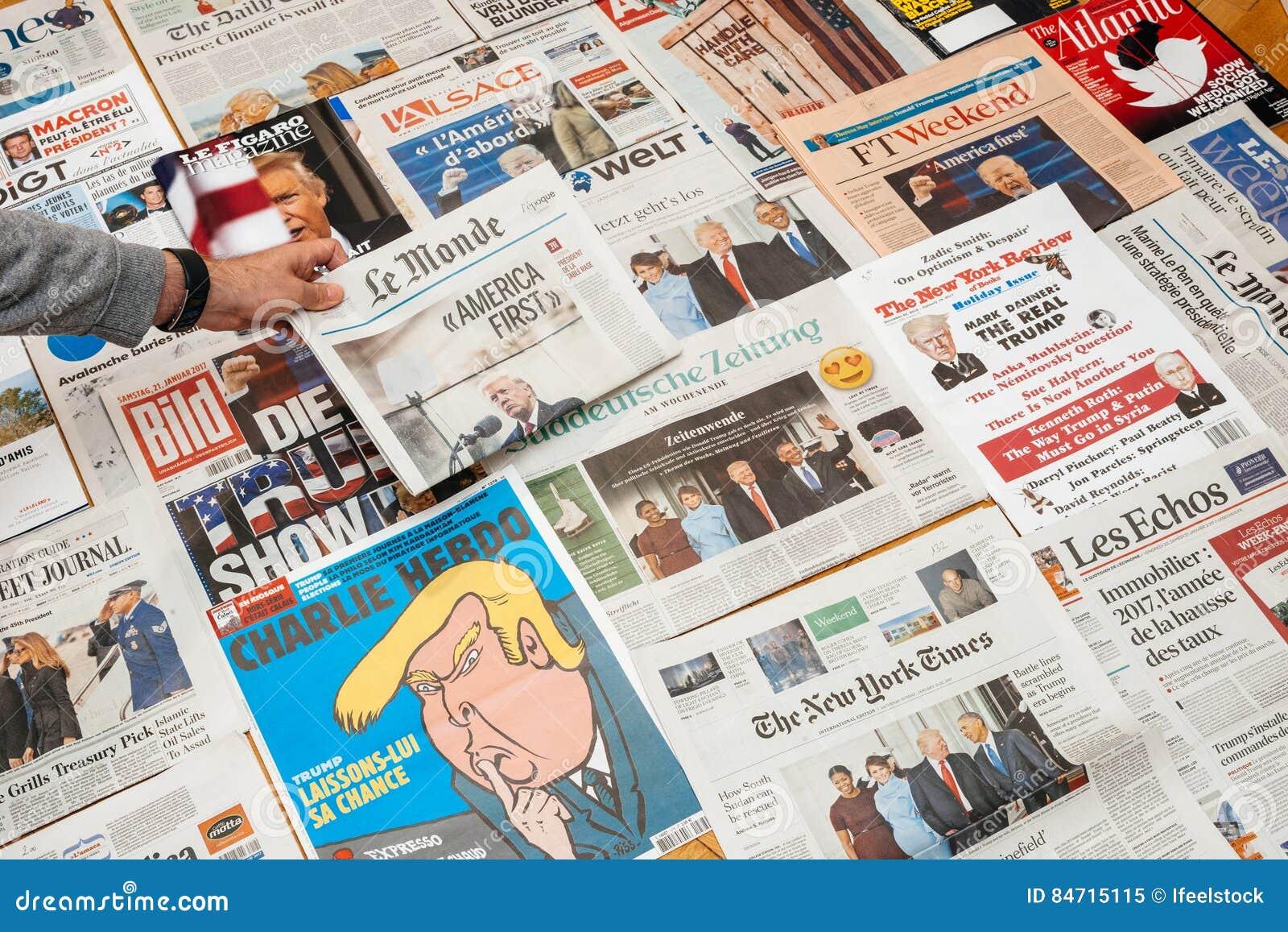 Le Monde med Amerika först av trumfinvigningen