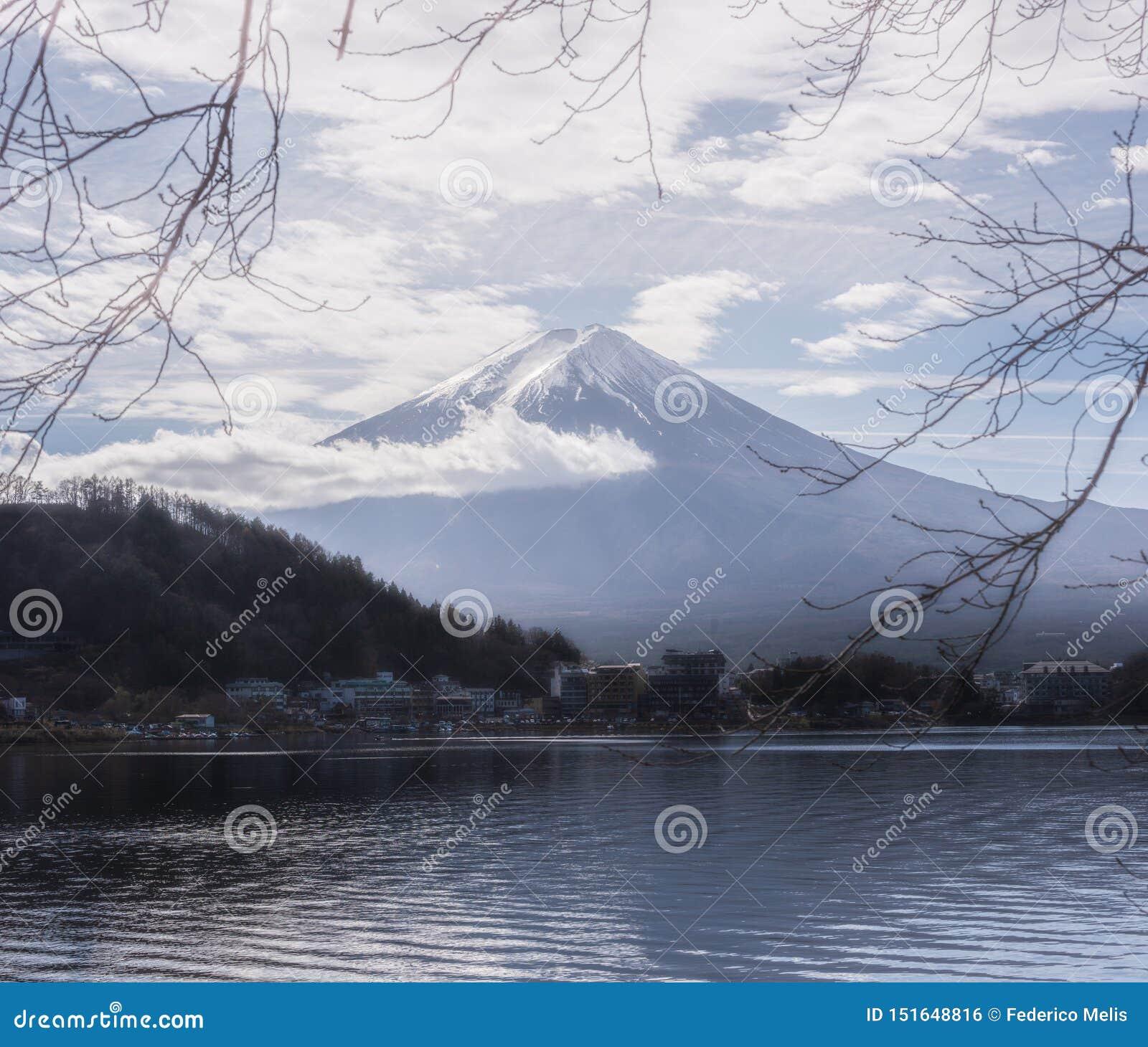 Le mont Fuji cinq lacs Japon