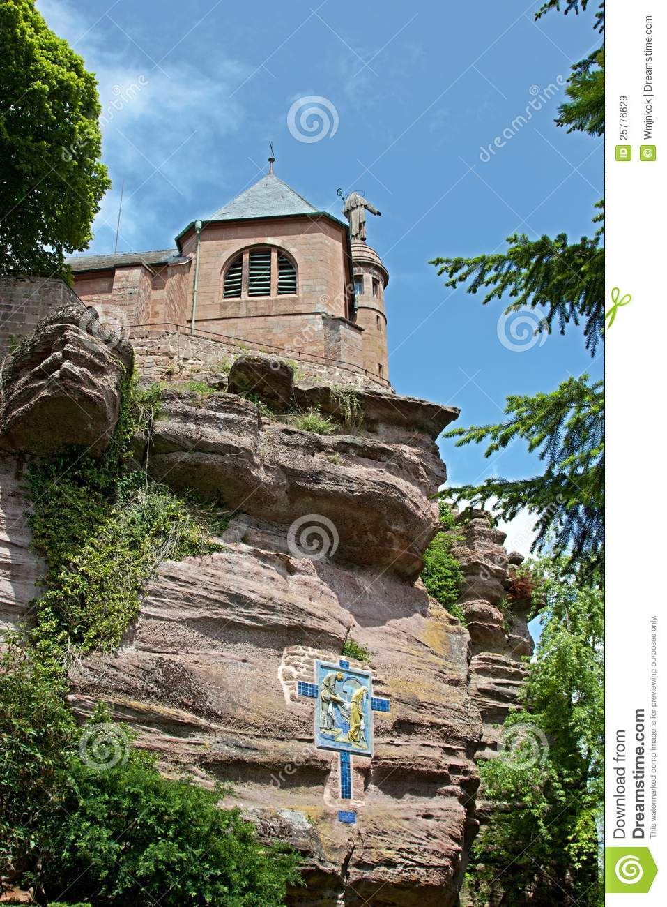 le mont sainte odile royalty free stock images image 25776629