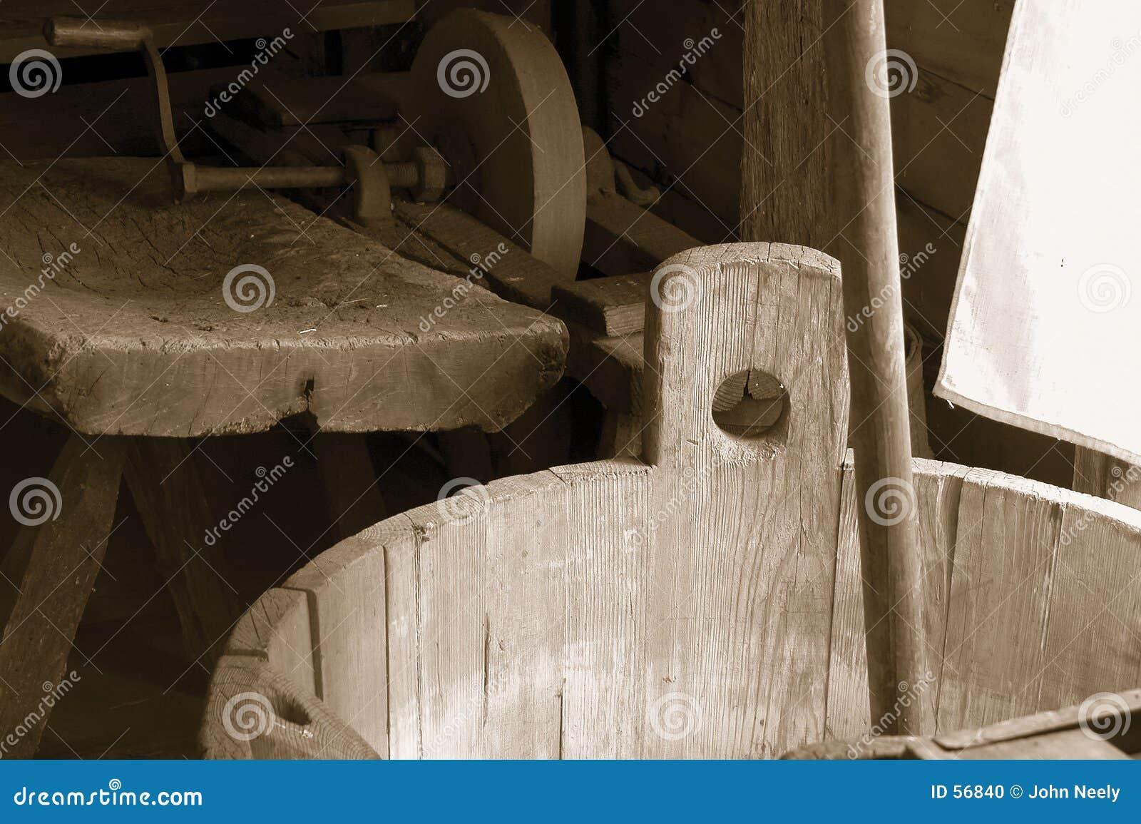 Download Le morcellement photo stock. Image du vieux, roue, outils - 56840