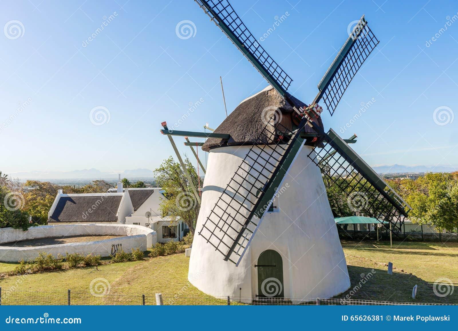 Le moulin de Mostert dans Mowbray, Afrique du Sud