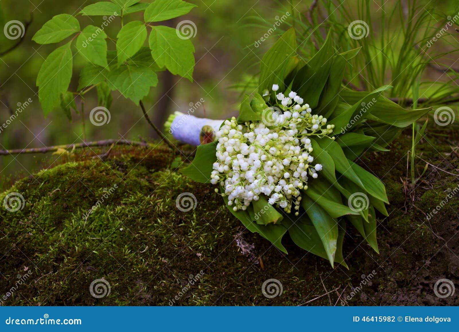 le muguet de bouquet de mariage photo stock image 46415982. Black Bedroom Furniture Sets. Home Design Ideas
