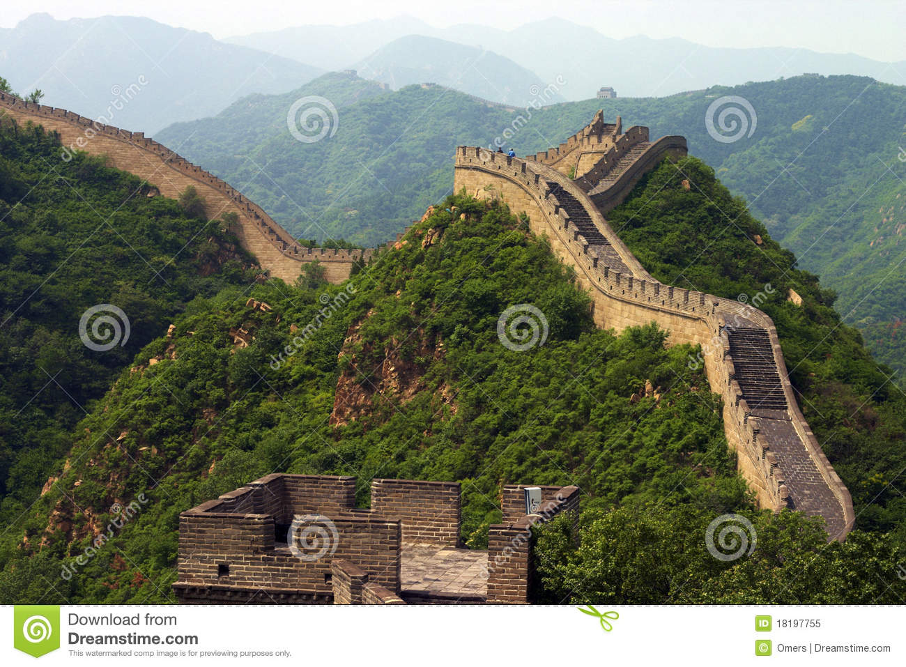 Le mur chinois grand