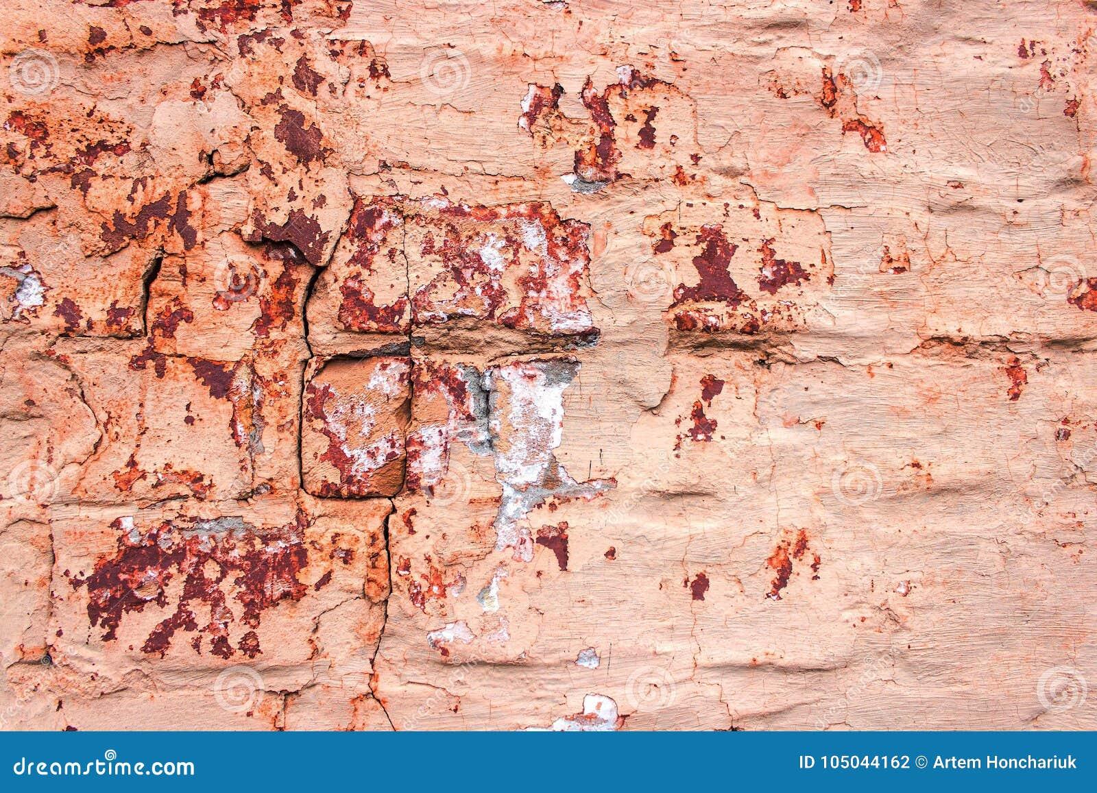 Le Mur De Briques Est Peint Dans La Couleur Beige Peinture D