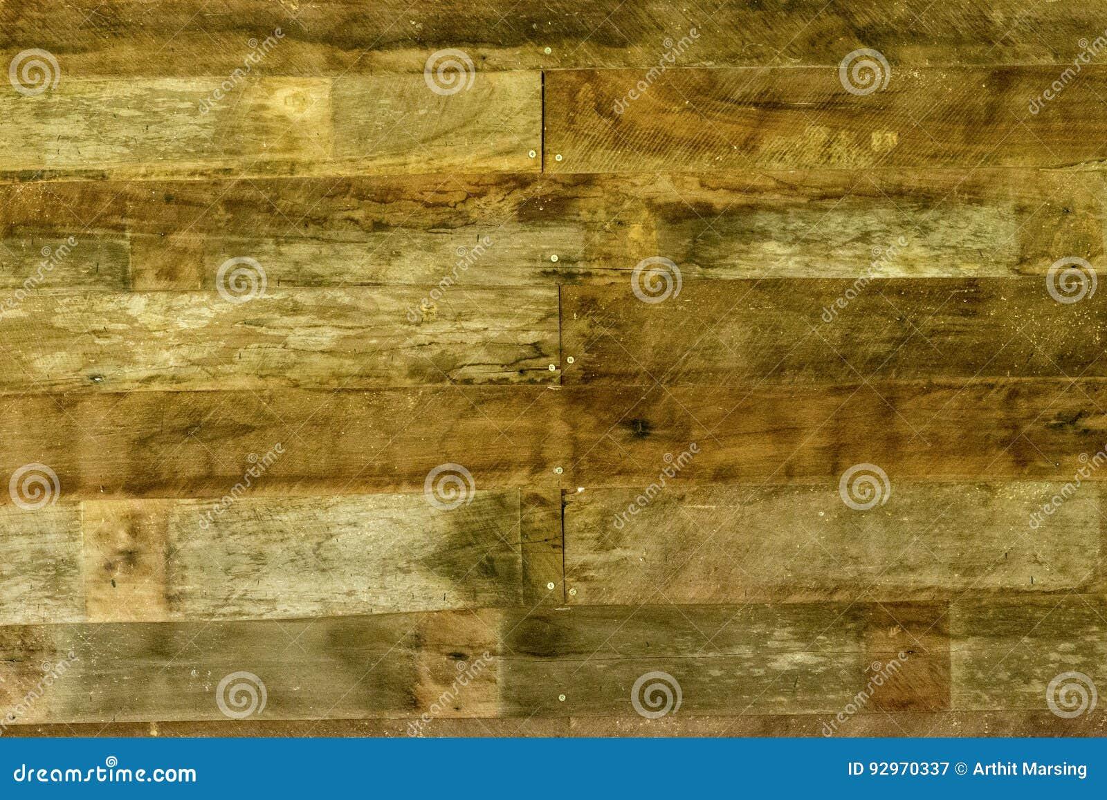 La Plinthe Du Mur le mur en bois classique de planche de vintage de brun foncé