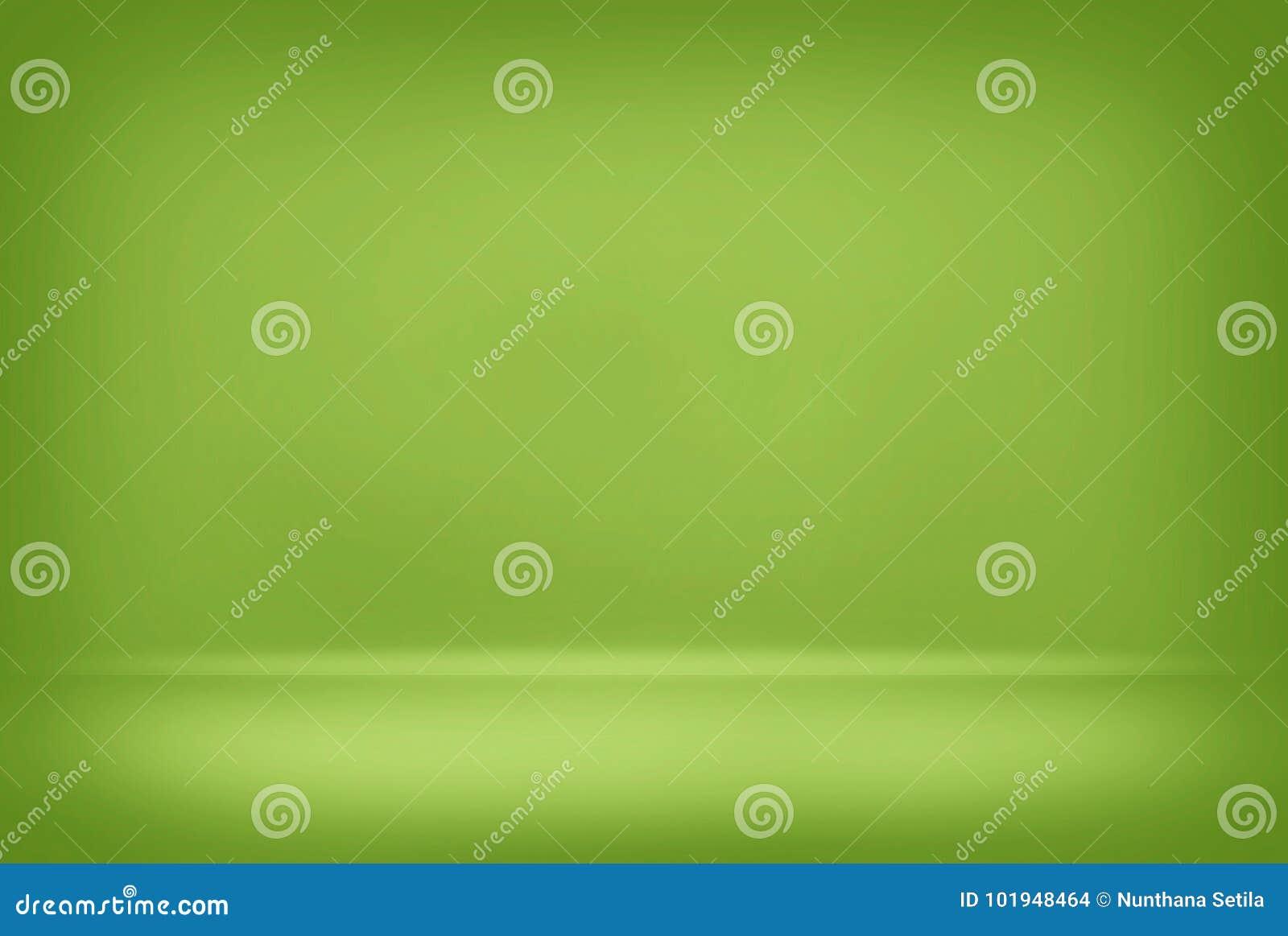 Le mur lisse de gradient de couleur de fond brouillé par vert abstrait peut concept créatif utilisé