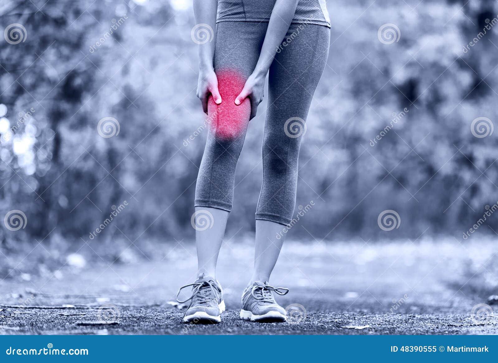 Le muscle folâtre la blessure de la cuisse femelle de coureur