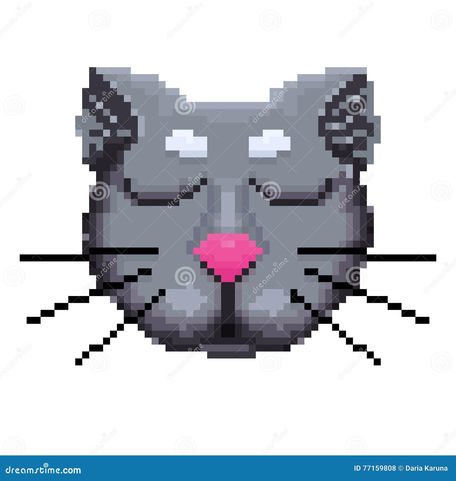 Le museau des pixels d un chat