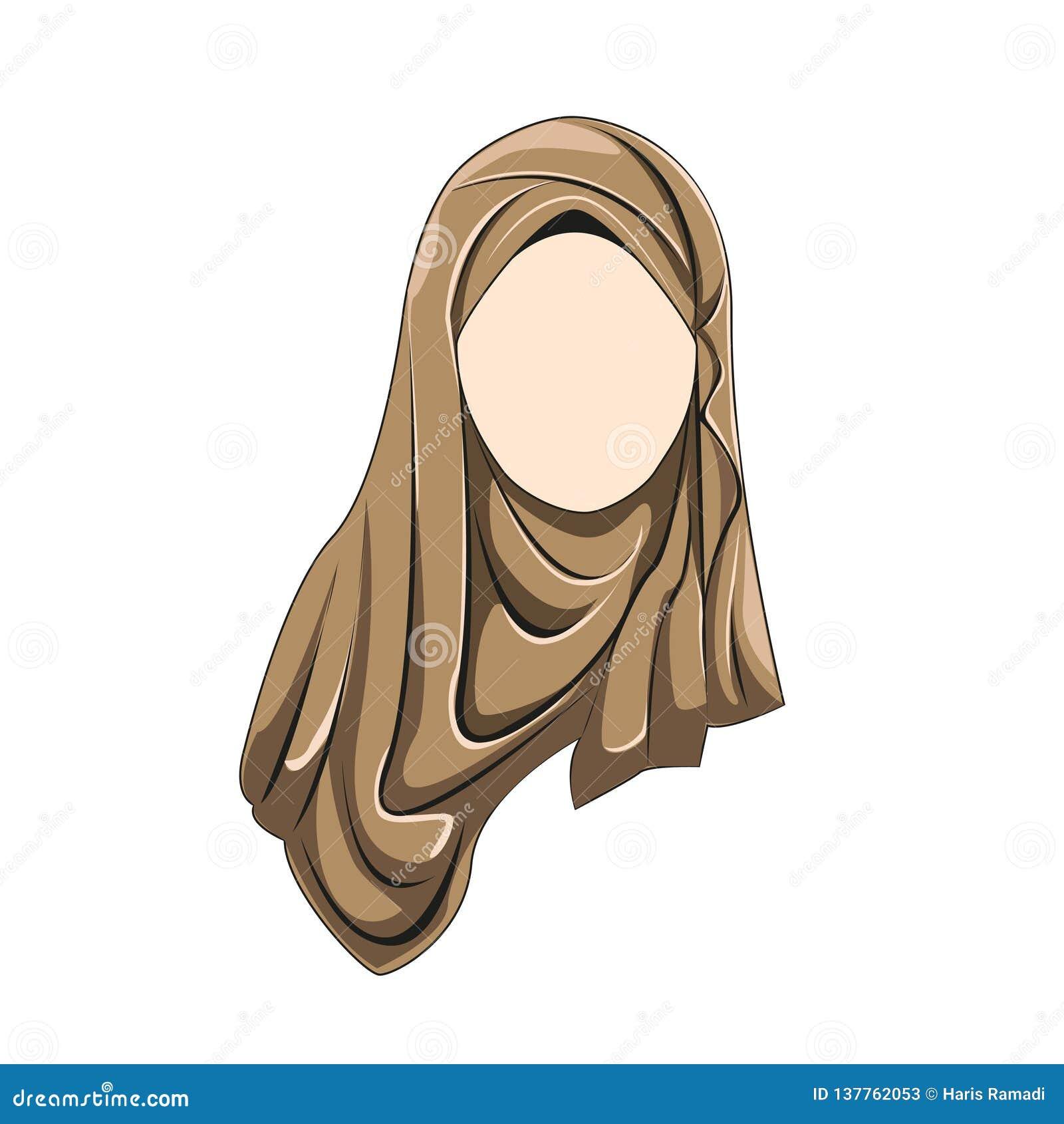 Le muslimah de Hijab dirigent la couleur brune