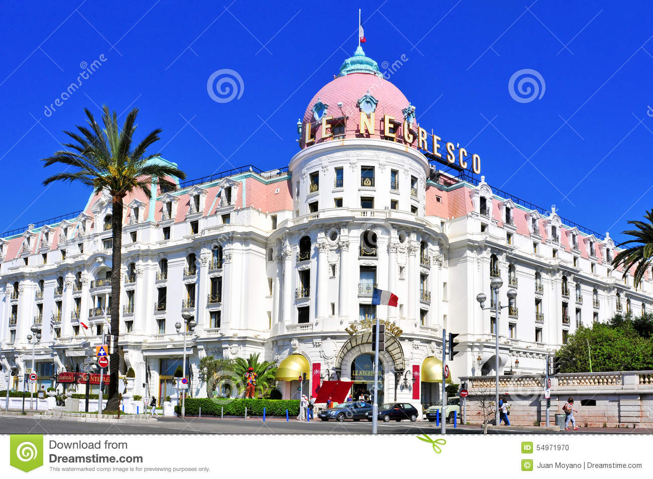 Le negresco hotel in nice france editorial image image for Hotels unis de france