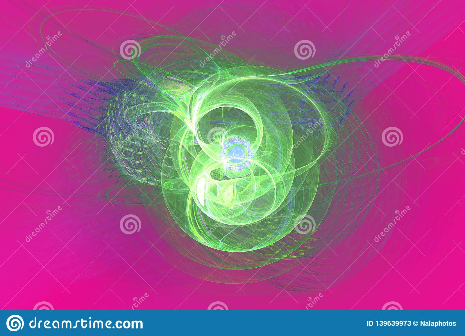Le noir de papier peint de fractale de Fraktal et les formes géométriques colorées illustrent la galaxie d explosion de fréquence