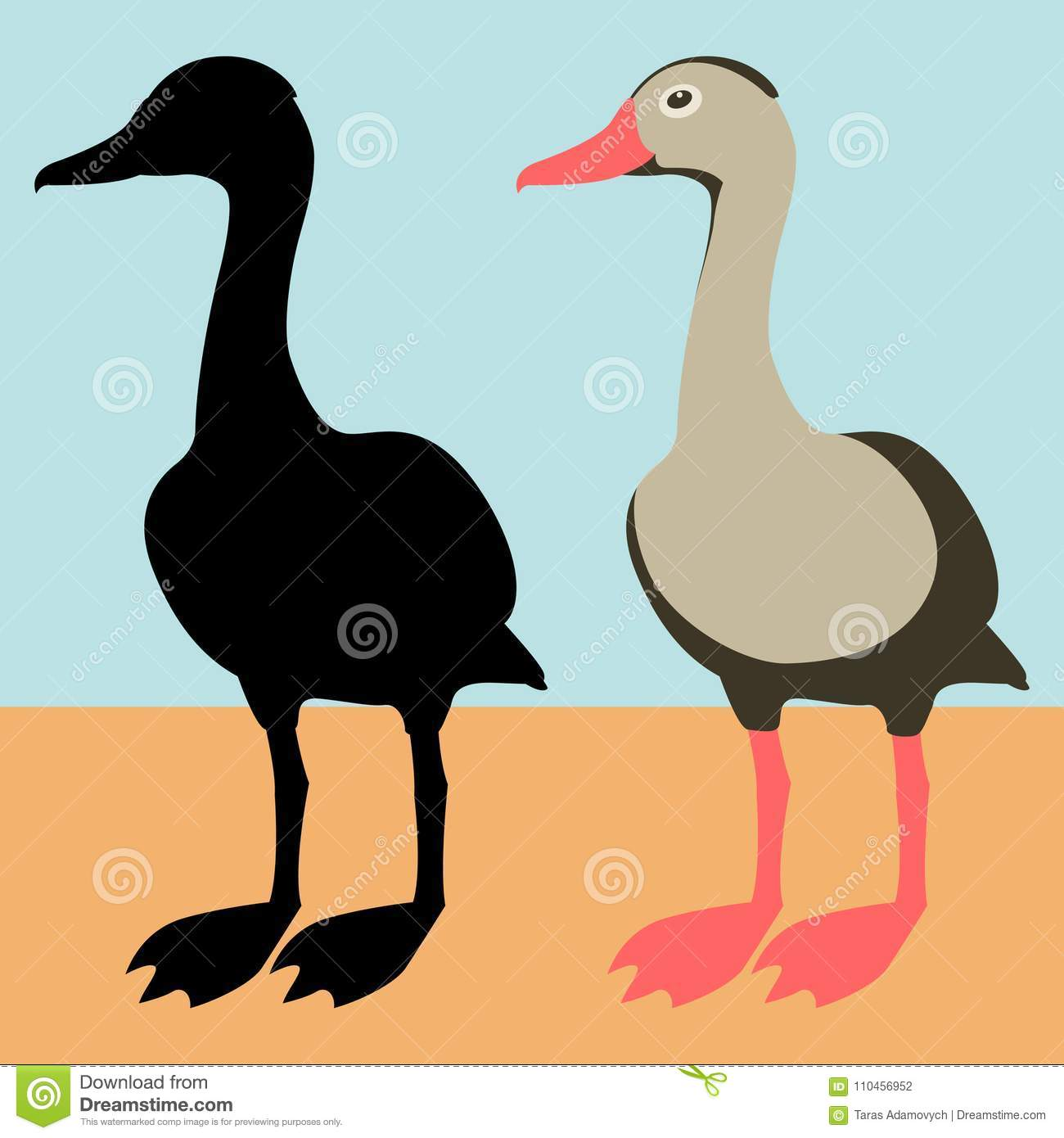 Canard le noir stock illustrations vecteurs clipart - Illustration canard ...