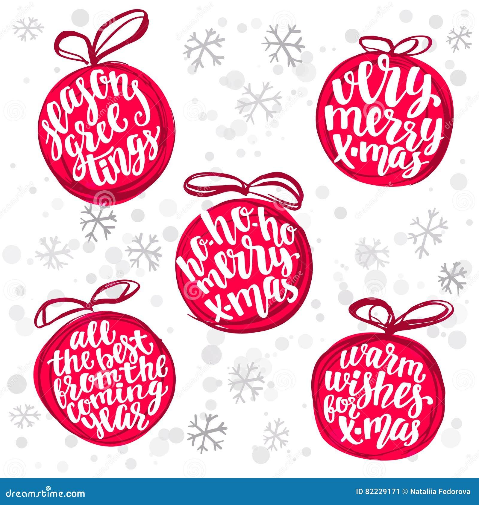 Le Nuage De Mot De Boule De Noël, Vacances Remettent Le Collage De
