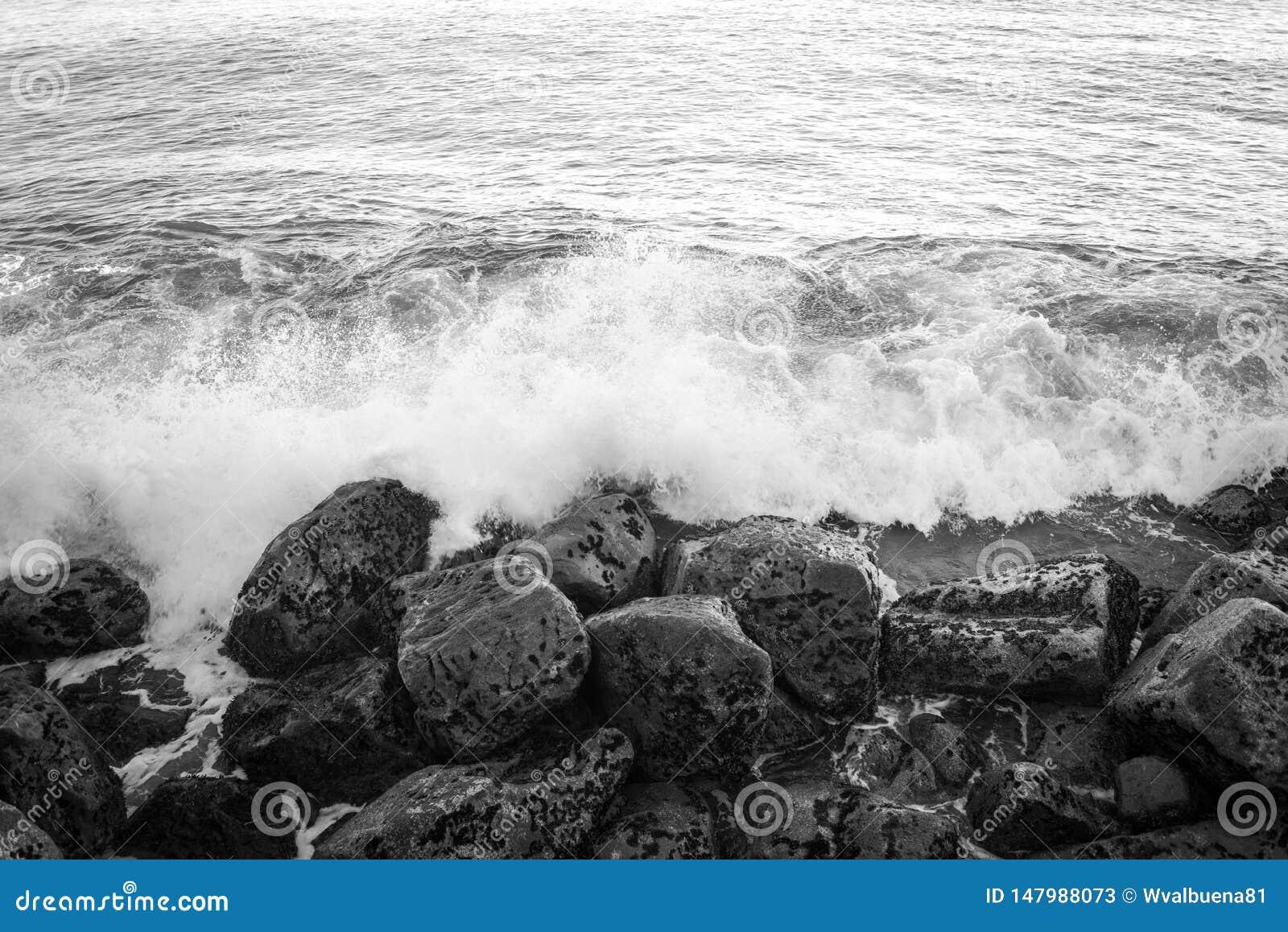 Le onde di oceano colpisce le rocce