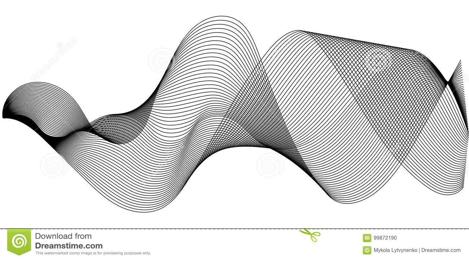 Le onde sonore di musica hanno messo, incandescenza d oscillazione delle onde sonore, illustrazione di semitono dell onda sonora