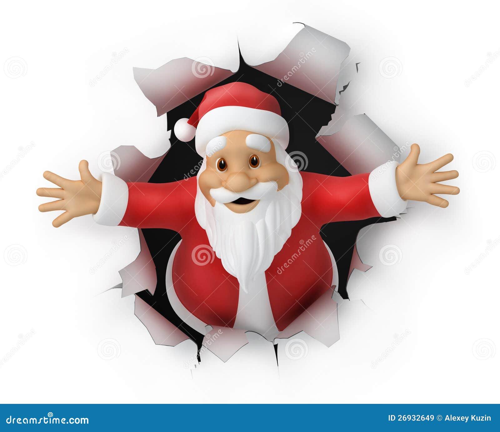 Image mère Noël en 3D : (tube png)